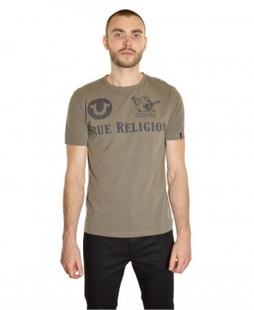 9e9d6613 Dusty Olive Embrossed Logo Prints T-shirt