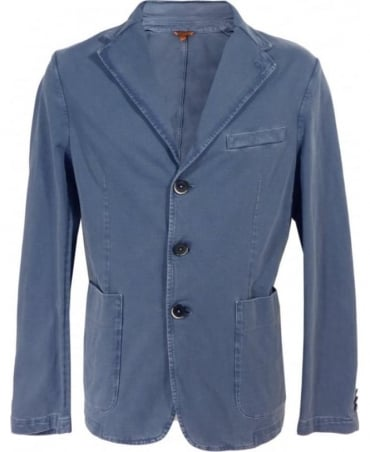 Barena Edison Blue Piero Three Button Jacket