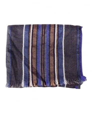 Paul Smith - Accessories Elephant Grey Stripe Scarf