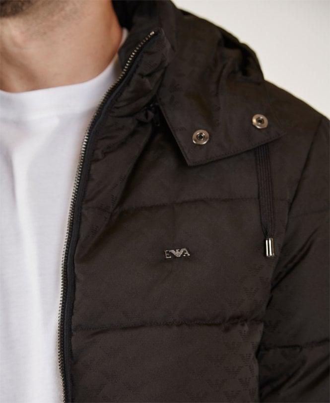 91ed5c36b Black Reversible Down Padded Hooded Jacket
