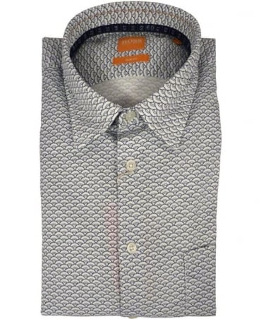 Hugo Boss 'EnameE' Slim Fit Casual Shirt In Natural