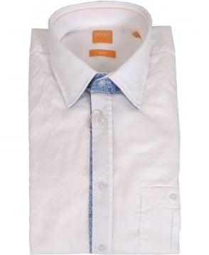 Hugo Boss 'EslimE' Slim Fit Shirt In White