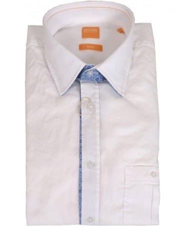 Hugo Boss 'EslimE' Slim Fit Shirt In White