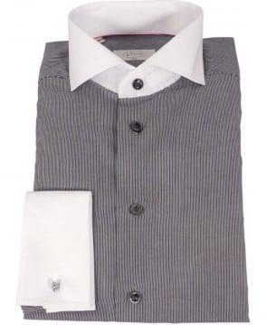 Eton Shirts Eton Grey Stripped Shirt