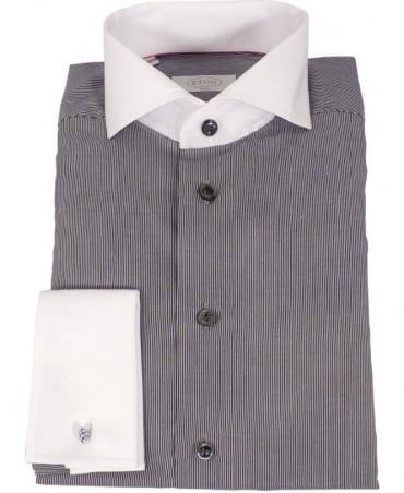 Eton Shirts Eton Grey Stripped Shirt