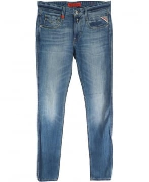 Replay Faded Blue 'Anbass' 606308 Slim Fit Jeans