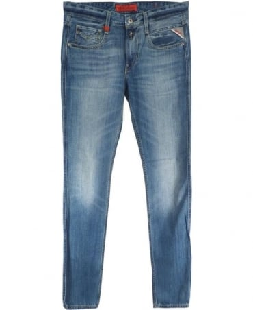 Faded Blue 'Anbass' 606308 Slim Fit Jeans