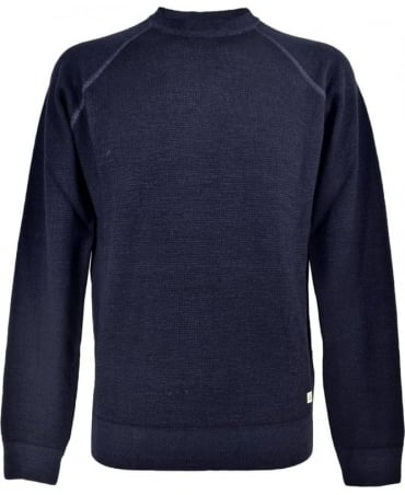 CP Company Faded Dark Blue Crew Neck 1118004 Jumper
