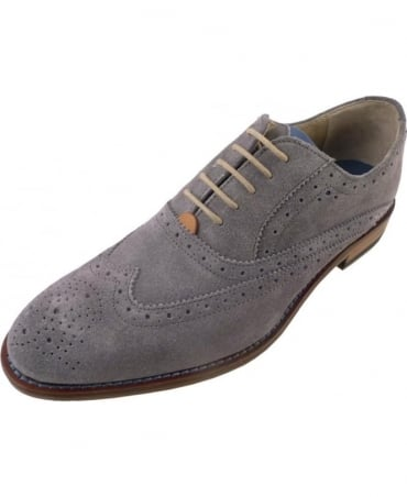 Oliver Sweeney Fellbeck Grey Suede Brogues