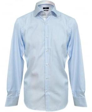 Hugo Boss Fine Blue Stripe Eraldin Shirt 50260255