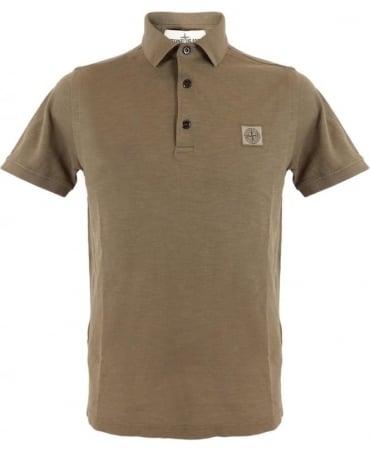Stone Island 'Fissato' Dye Treatment Polo Shirt In Brown