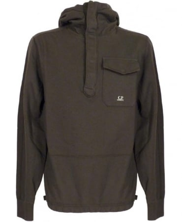 CP Company Fleece Hooded Sweatshirt In Grey