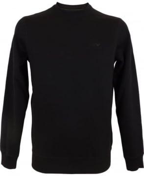 Armani Jeans Fleece Sweatshirt In Black