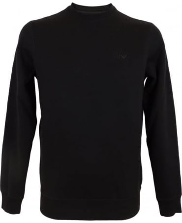 Armani Fleece Sweatshirt In Black