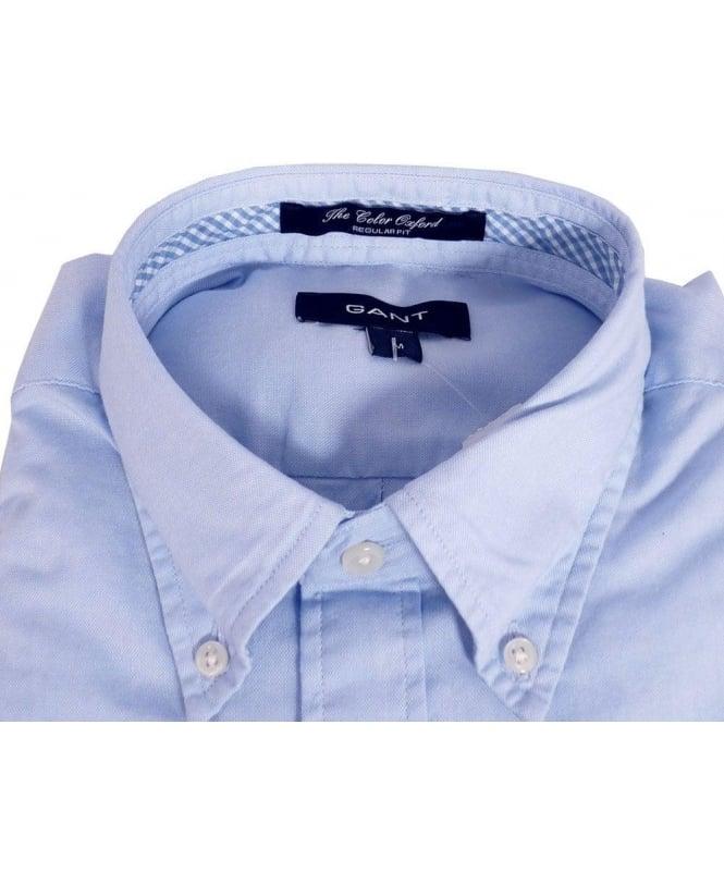 b8bd1a91b49fa Gant Blue 342291 Oxford Button Down Collar Short Sleeve Shirt ...