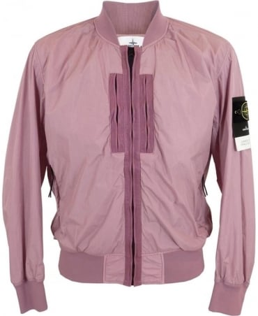 Stone Island Garment Dyed Crinkle Reps NY In Pink