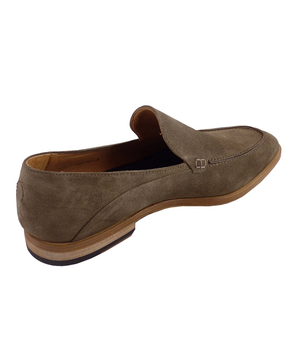 genoa sand suede slip on shoe