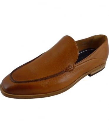 Genoa Tan Leather Slip-On Shoe