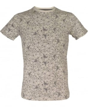 Armani Jeans Geometric Eagle Print Slim Fit T-shirt