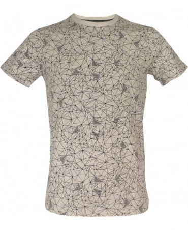 Armani Geometric Eagle Print Slim Fit T-shirt