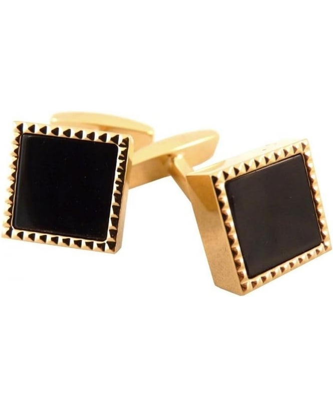 Hugo Boss Gold Brass Gisbo Cufflinks 50261614