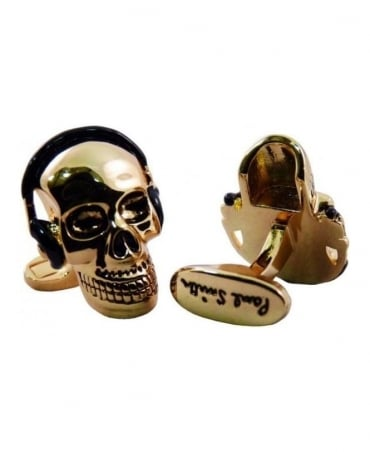 Paul Smith - Accessories Gold Colour Skull Cufflinks