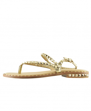 Ash Gold With Gold Studding Peps Sandal