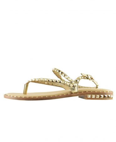 Gold With Gold Studding Peps Sandal
