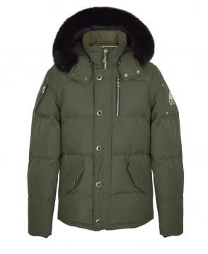Moose Knuckles Green 3/4 Weatherproof Jacket
