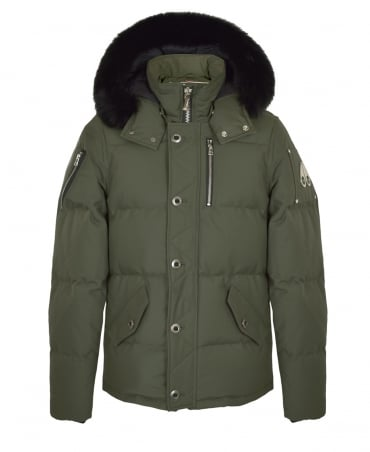 Moose Knuckles Green 3/4 Weatherproof Jacket