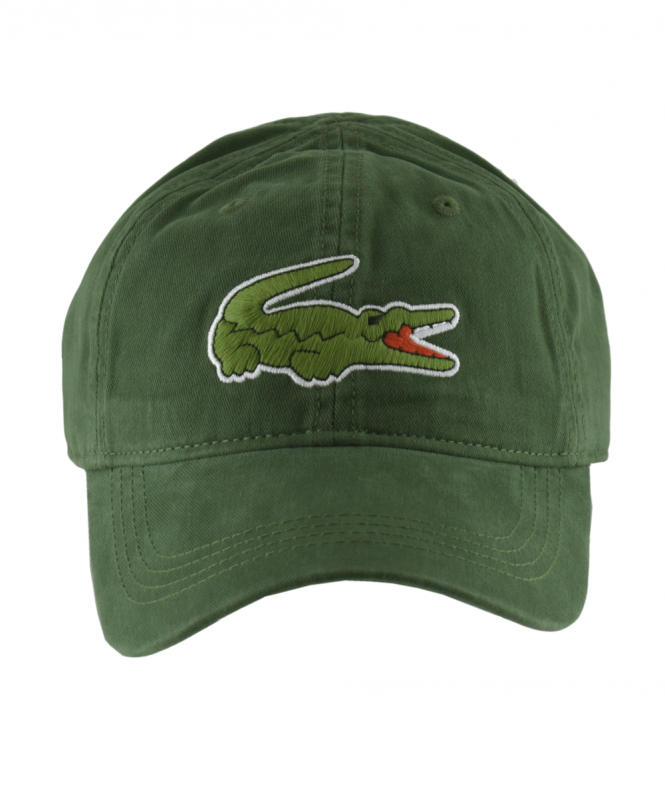 Lacoste Green Cap With Oversized Crocodile - Hats from Jonathan ... 7b7cebfc7cb