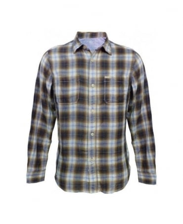 Replay Green Check Shirt M4859