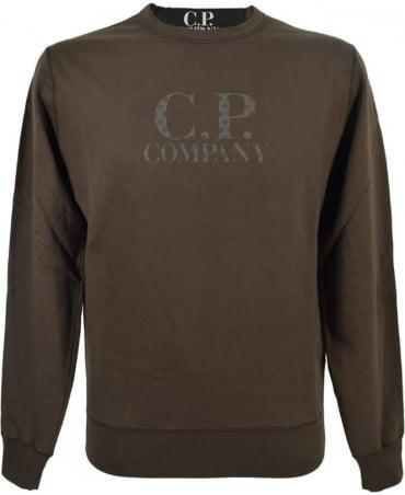 CP Company Green Crew Neck UF03258002246 Sweatshirt
