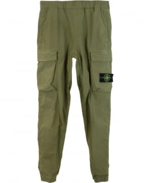 Stone Island Green Dyed Combat Trousers