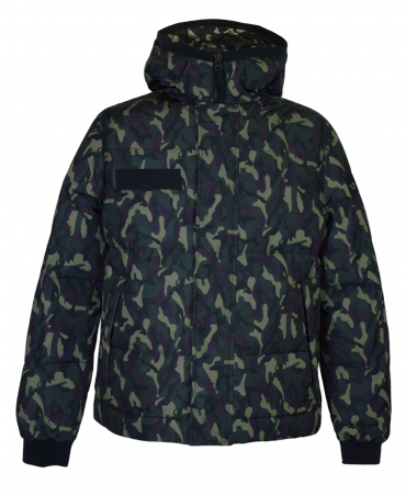 True Religion Green Hooded Camouflage Jacket