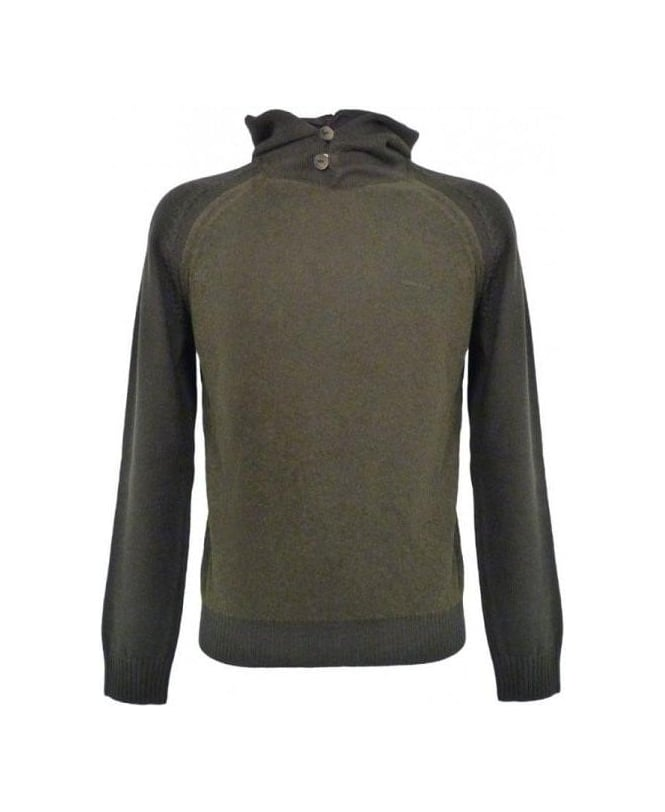 Armani Green Hooded Knitwear Jumper