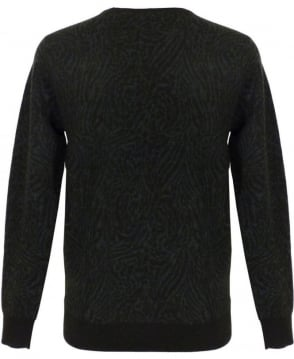 Scotch & Soda Green Intarsia Slim Fit Knit