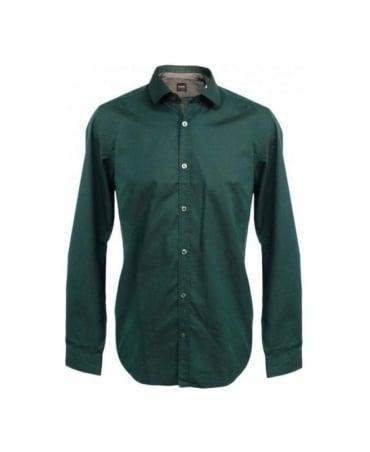 Hugo Boss Green Lorenzo 50253418 Shirt