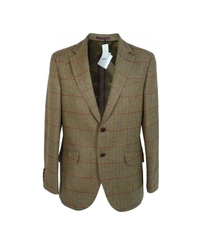 Hackett Green & Pink Check Bone Sports Jacket
