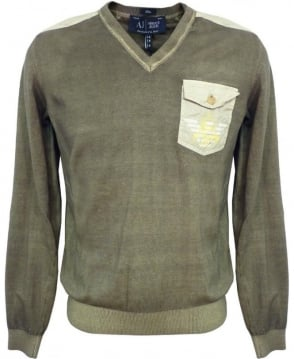 Armani Jeans Green V6W16TH Jumper