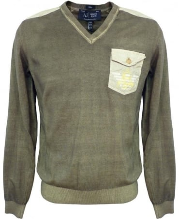 Armani Green V6W16TH Jumper