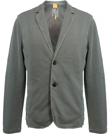 Green Wayn two button sweatshirt jacket