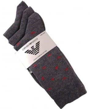 Armani Grey 3 Pack Stretch Socks