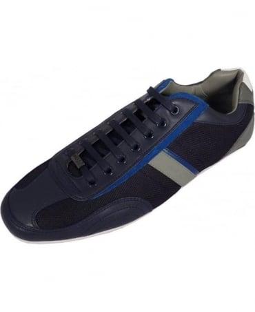 Hugo Grey 50227208 Thatoz Blue Trim Detail Trainer