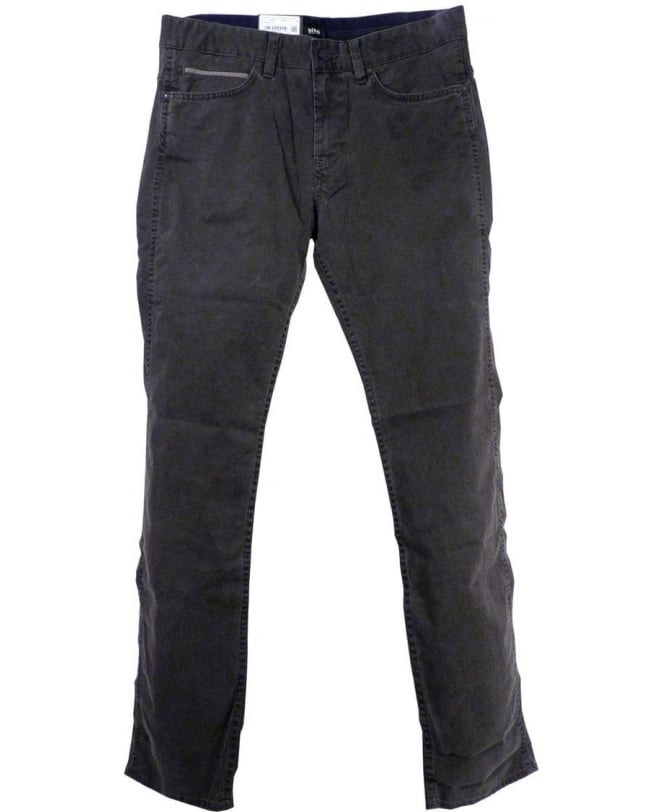 Hugo Boss Grey 50296161 Delaware2-1-20 Zip Fly Jeans