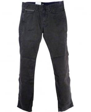 Hugo Boss Grey 50296161 Delaware2-1-20 Zip Fly Jeans