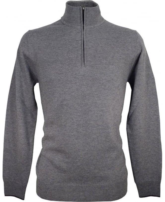 Hugo Boss Grey 50299017 Benders-E Half Zip Knitwear