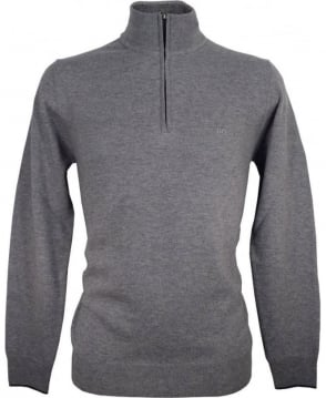 Hugo Boss Grey 50299017 Benders-E Half Zip Knitwear