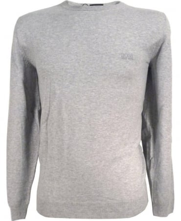 Hugo Boss Grey 50302547 Finello Crew Neck Knitwea