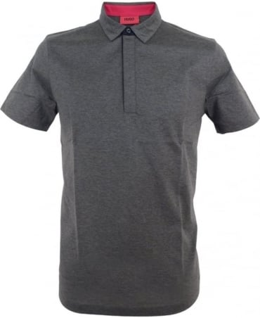 Hugo Grey 50315197 Dellos Contrast Trim Polo